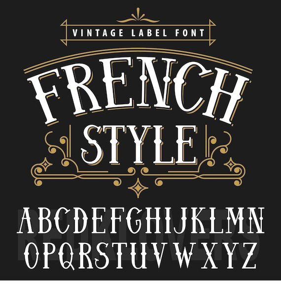 svg silhouette dxf vintage font french sign apothecary chalk etsy