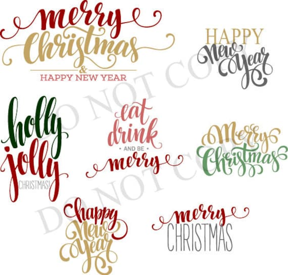 dxf svg merry christmas happy new year font swirl script svg etsy dxf svg merry christmas happy new year font swirl script svg dxf silhouette cricut scrapbook digital download file designs