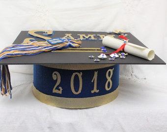 Royal Blue Graduation, Graduation 2018, Graduation Party, Graduation Centerpieces, Senior 2018, Card Box Graduation, Card Box, Graduation