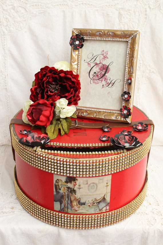 Wedding Money Box Black Red Wedding Card Box Bridal Shower Gift Elegant Wedding Card Box Gold Wedding Card Box Gold Wedding Decorations