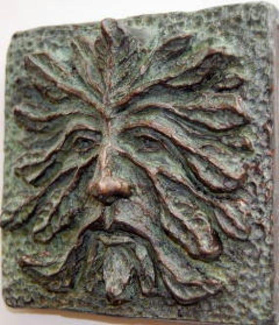 Superieur Greenman Green Man Greenman Art Tile U0026 Sculpture Greenman | Etsy