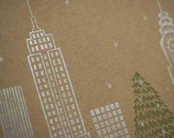 New York Skyline Holiday Cards / Handmade Stationery