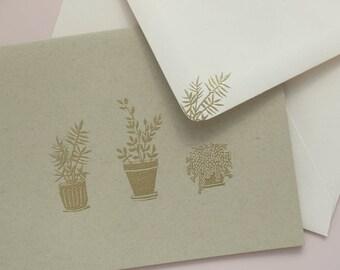 Houseplants Cards / Handmade Stationery