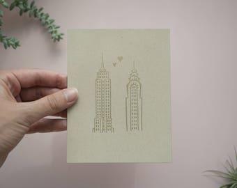 New York Love Cards / Handmade Stationery