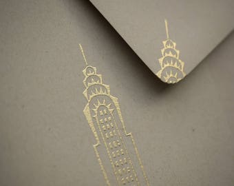 Chrysler Building Cards / Handmade Stationery