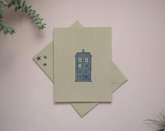 Doctor Who Tardis Cards / Handmade Stationery