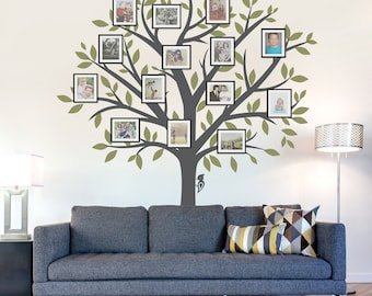 Amazing Family Tree Wall Decal   Tree Wall Sticker, Nature Wall Decal, Living Room  Art, Family Photo Art, Family Tree Art