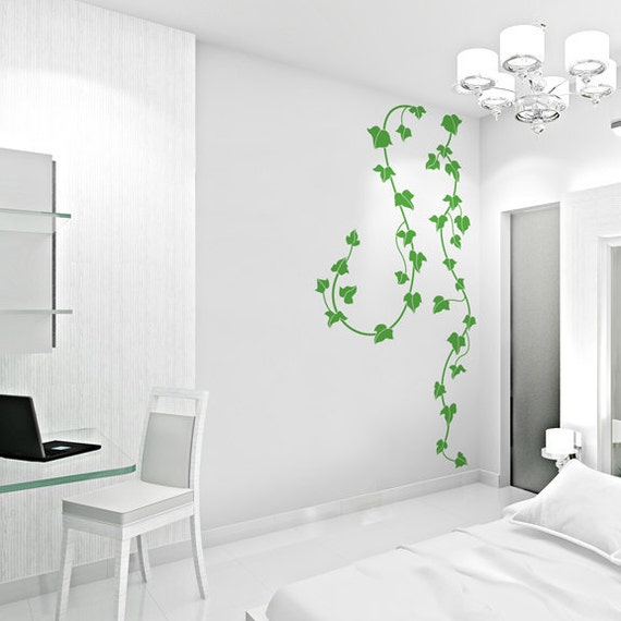 Ivy Vines Vinyl Wall Decal Ivy Decal Ivy Sticker Vine Etsy