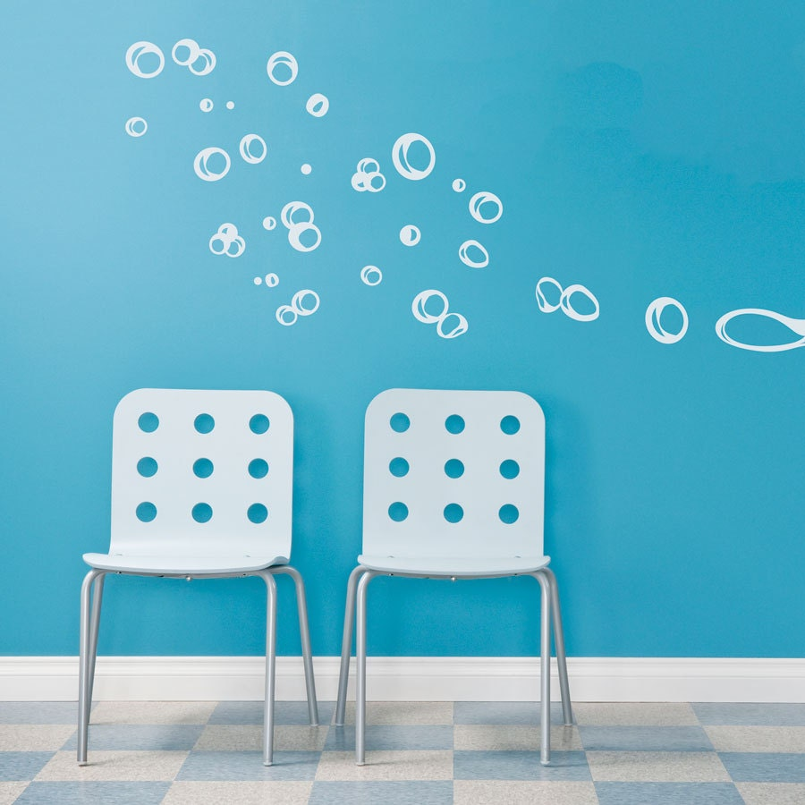 zoom Floating Bubbles Wall Quote Decal Bathroom