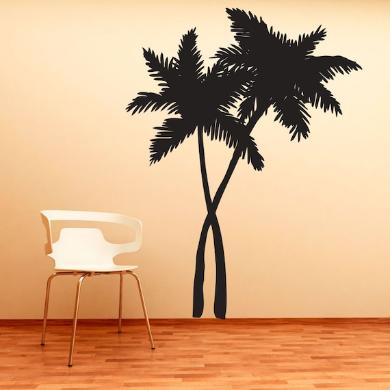 Swaying Palm Trees Vinyl Decal Wall Sticker Tropical Wall