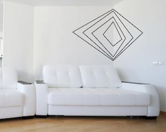 Corner 3D Art Vinyl Wall Decal Sticker-Geometric Shaped, Abstract Decal, Geometric Wall Decal, Abstract Nursery, 3D Wall Decal, Corner Decal