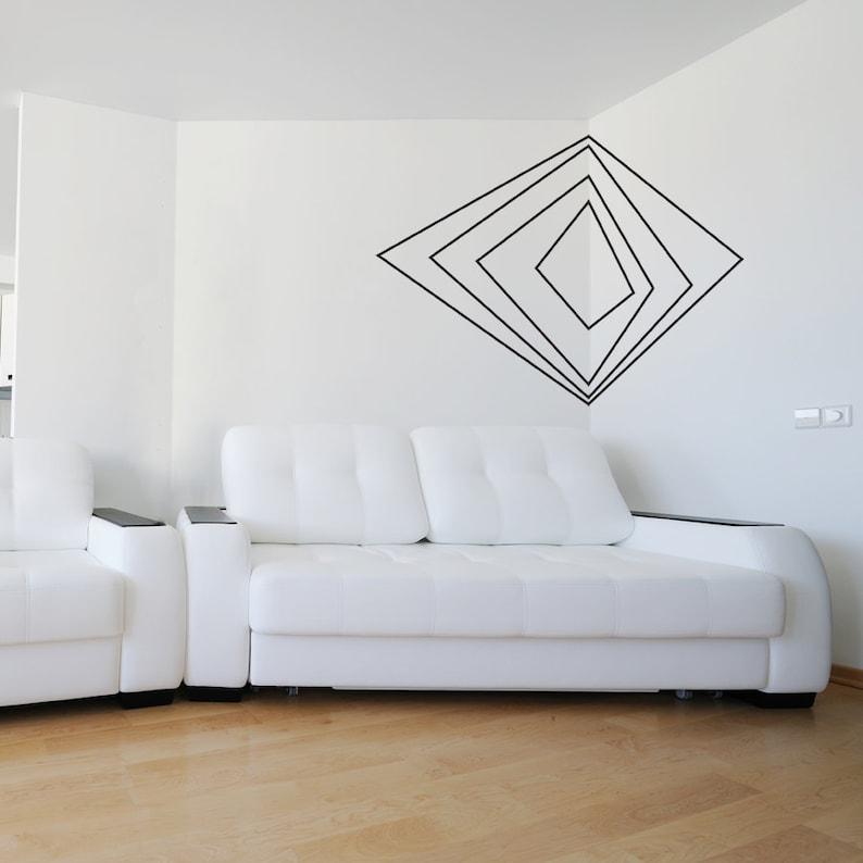 corner 3d art vinyl wall decal sticker-geometric shaped | etsy