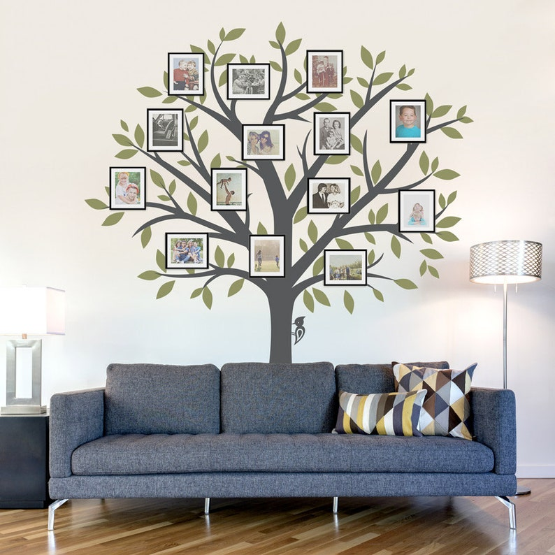 family tree wall decal tree wall sticker nature wall decal | etsy