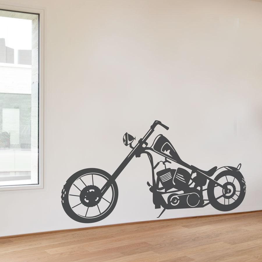 Moto bobber sticker mural en vinyle autocollant moto moto wall art homme des cavernes wall art cadeaux de moto moto decor