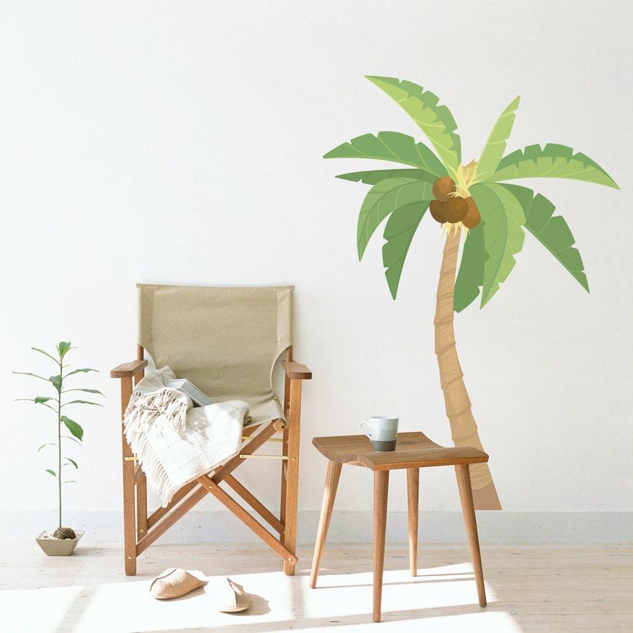 Palm Tree Printed Wall Decal Tropical Wall Art Palm Tree ...