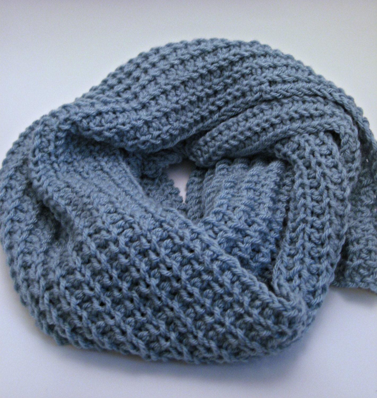 Glacier Loose Knit Scarf Pattern, Ribbed Scarf Pattern, Winter Scarf ...