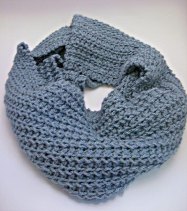 Glacier Loose Knit Scarf Pattern Diy Knitting Pattern Etsy