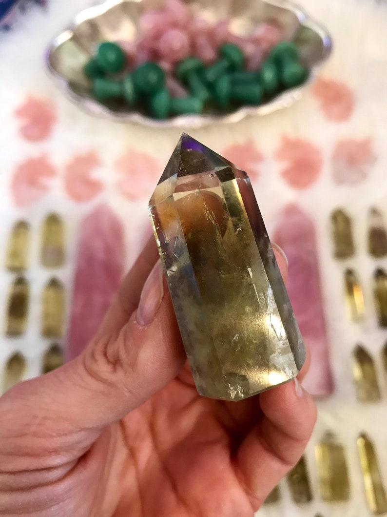 NATURAL CITRINE POINT  carved crystal collectors specimen