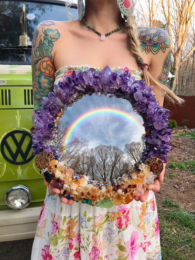 CUSTOM Crystal Mirror // MADE To ORDER 2-4 months lead time // image 0
