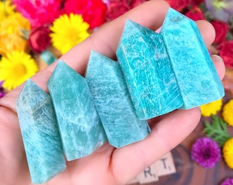 AMAZONITE mini Point / carved crystal collectors specimen