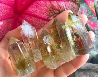 NATURAL CITRINE POINT / carved crystal collectors specimen