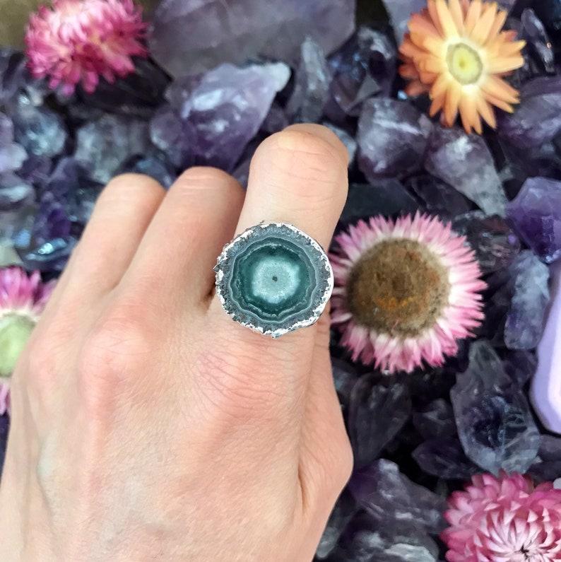 Size  6.5 // STALACTITE Amethyst & jasper Ring // Sterling image 0