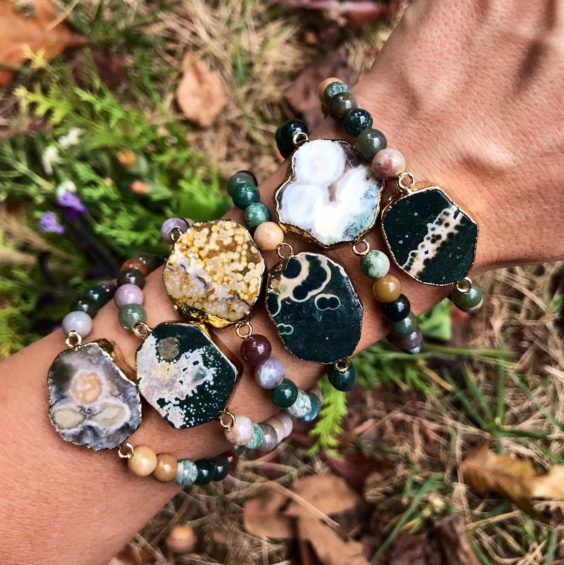 OCEAN JASPER  // Stretch bracelet // stacking bracelet // image 0