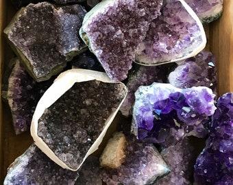 AMETHYST Cluster Specimen - medium raw amethyst // February birthstone //