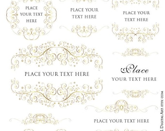 floral borders logo clip art frame vintage flowers perfect etsy