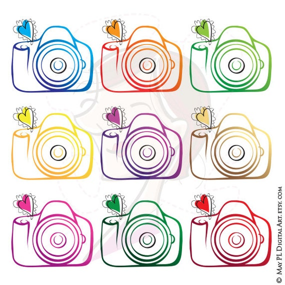 Photography Camera Clipart Diy Business Logo Design For The Etsy