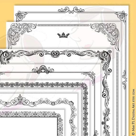certificate frames design vintage style borders great for etsy