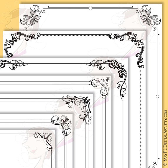Border Frames Rectangle Certificate Decorative Frame Borders Clipart ...