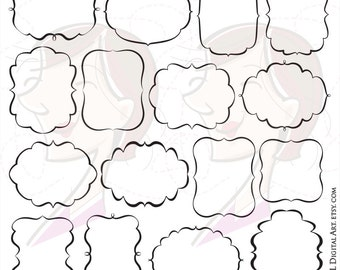 Fancy Frames Svg Vector Clipart Files - great to make Labels, Tags, Invitations, Crafts, Lesson Plans - FREE Commercial Use 10756