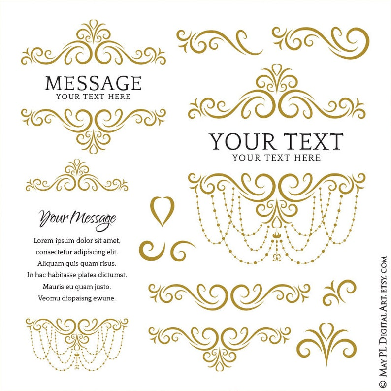 f14b9468ef4 Gold Wedding Flourish featuring Elegant Chandelier Frames