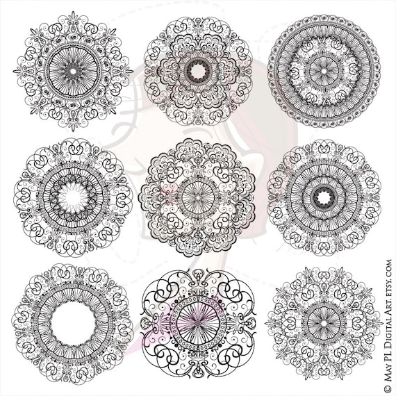 Digital Clipart Vintage Doily Lace Png Doilies Perfect For Art Projects Invitations Page Decoration Etc Free Commercial Use 10247