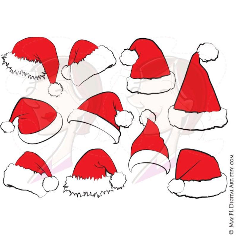 73c5931d489 Santa Hat SVG Clipart Christmas Santa Claus Hat Clip Art Santa