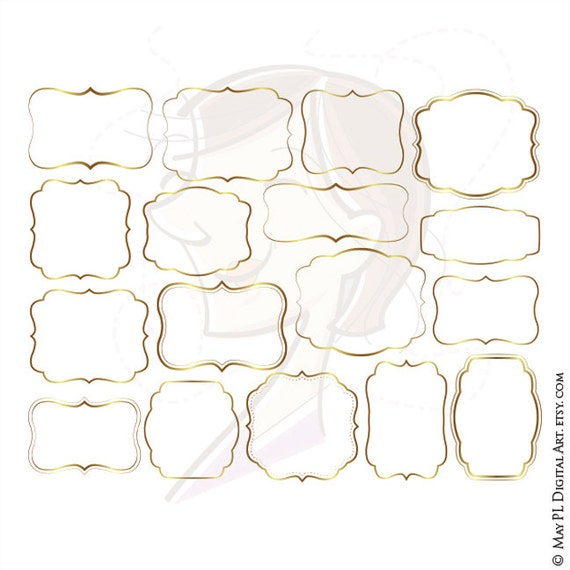 Label Frames Gold Borders FREE Commercial Use Clip Art ...