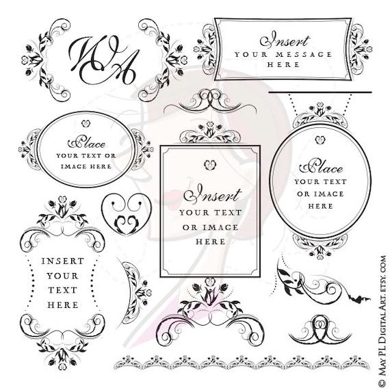 ddd62becf1d1 Monogram Signage Wedding Digital Floral Frame Commercial