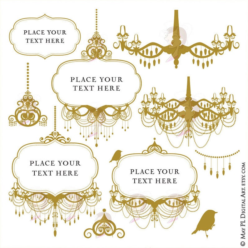 6a524f3ce9a Antique Gold Chandelier Frames Commercial Clipart supplied