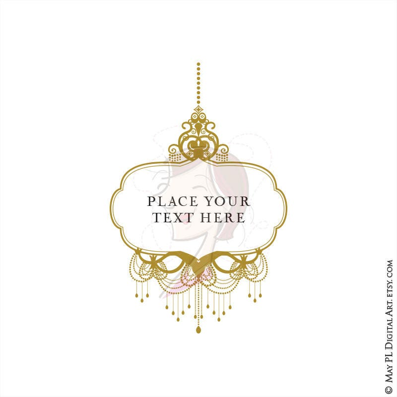 Antique Gold Chandelier Frames - Commercial Clipart supplied as ...