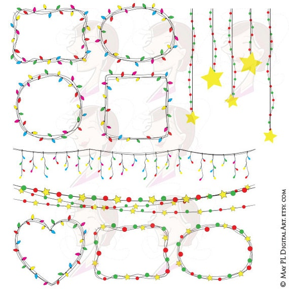 Christmas Fairy Lights Png.Christmas String Lights Png Clipart Fairy Lights Diy Party Invitation Vector Frames Celebrations Designs Xmas Red Green Commercial Use 10027