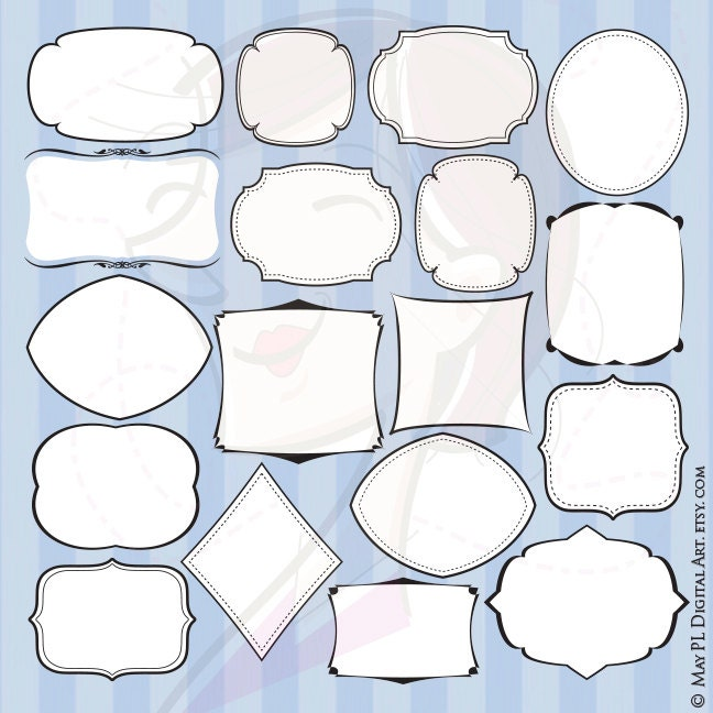 Basic Shapes Svg Clip Art With Commercial License Digital