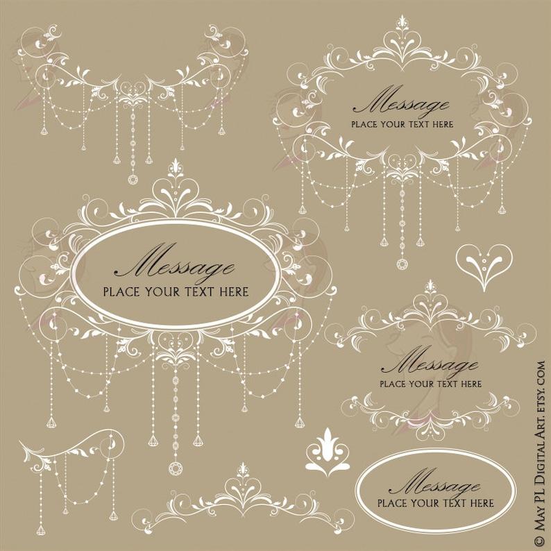 5e0890857c6 Chandelier Floral Frame Oval White Flourish Frames Clipart DIY