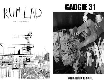 Rum Lad #6/Gadgie #31 - The Rum Gadgie, punk-comic zine.  Brand new!