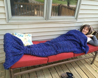 Mermaid Tail Blanket, Mermaid Tail Blanket Adult Child Teen, Mermaid Blanket, Crochet Mermaid Tail Blanket, Crochet Mermaid Tale, Gift