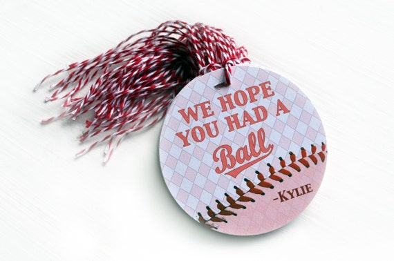 Girls Baseball Tag, Have a Ball Tags, Personalized Gift