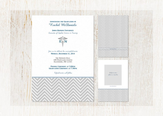Nursing graduation invitation graduation announcement rn lpn il570xn filmwisefo