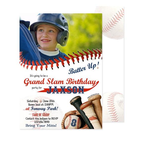 Baseball Birthday Invitation Sports Party Invitations Tee Ball