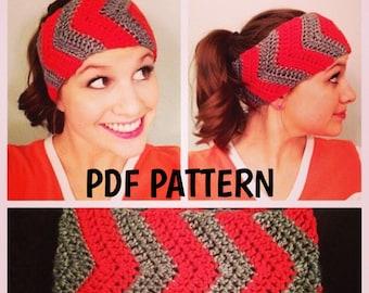 Chevron Earwarmers / Headband Crochet PATTERN