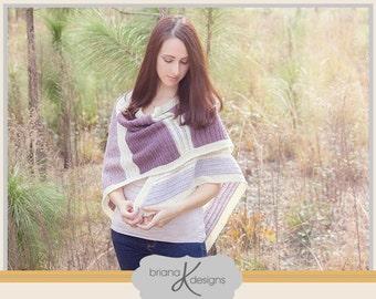 Crochet Pattern Kimberly Crochet Shawl Wrap, Instant Download, Women's Fashion, Spring Accessory, Easy to follow Crochet Pattern